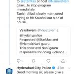 Police case on Tanish Alladi
