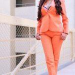 Poonam Kaur Roasting in Orange Stills