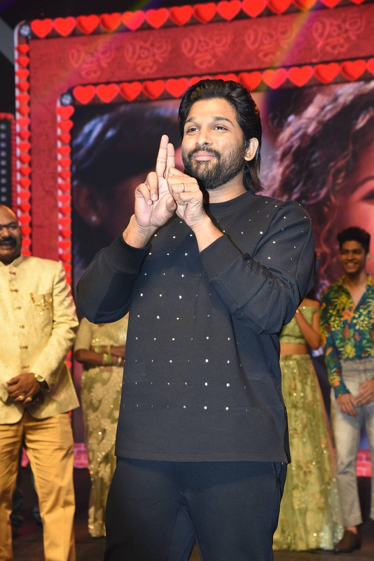 Allu Arjun at lovers day audio launch event photos