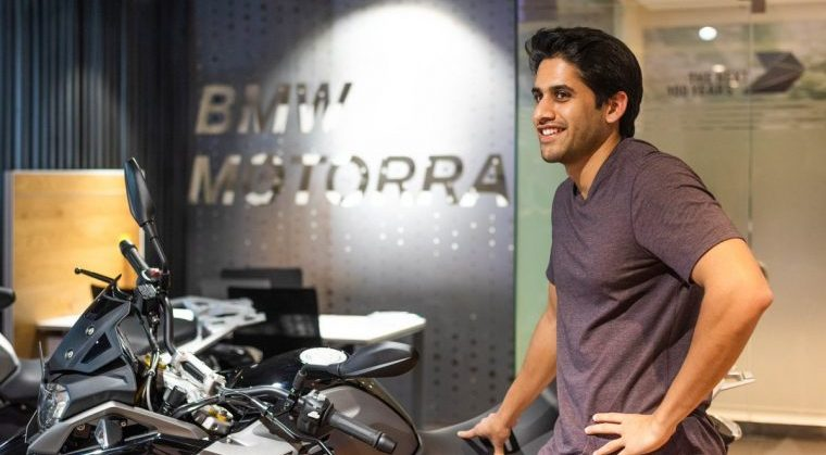 Naga Chaitanya New BMW motorbike